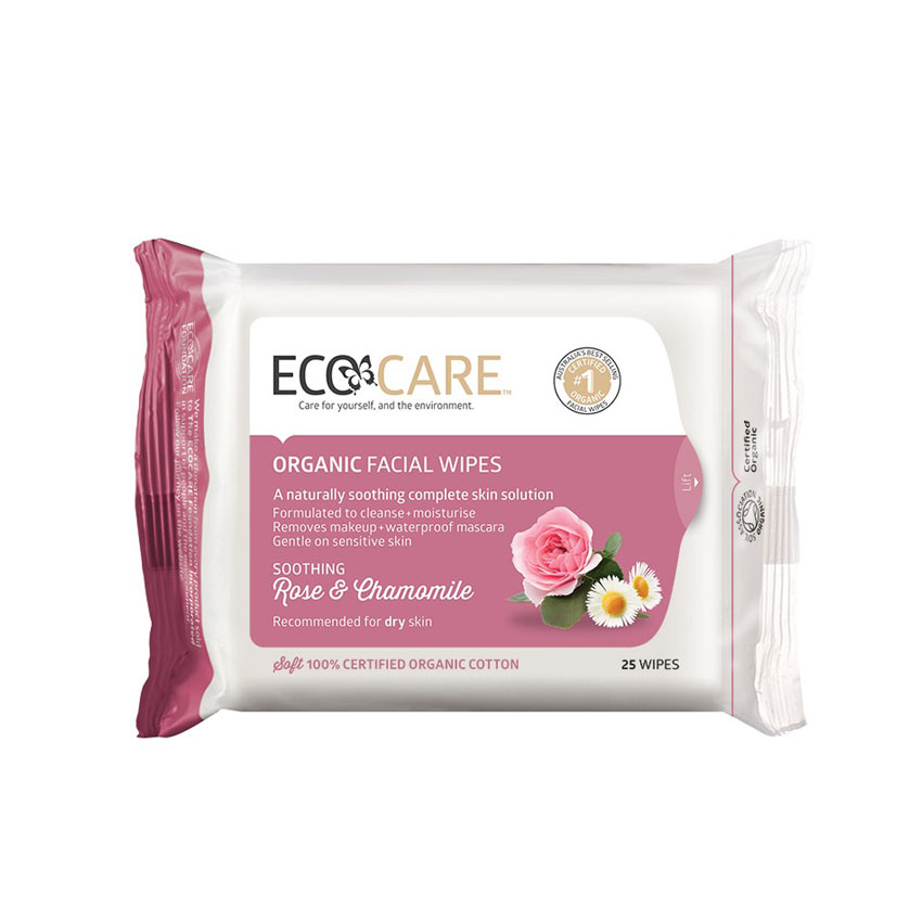 Rose and Chamomile Organic Facial Wipes