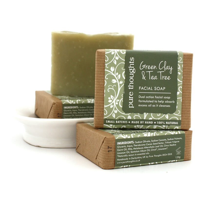 Green Clay and Tea Tree Facial Soap