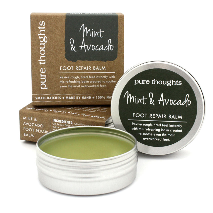 Mint and Avocado Foot Repair Balm