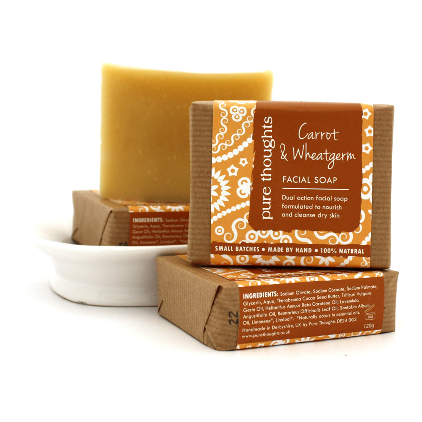 Carrot & Wheatgerm Facial Soap